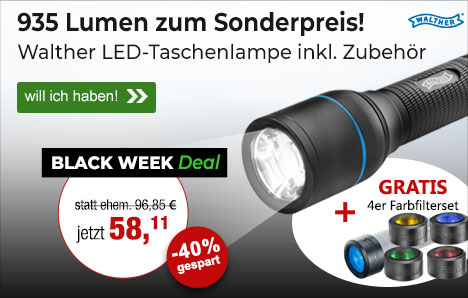 High-Performence LED - Walther Taschenlampe