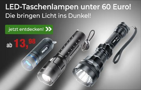 Taschenlampen unter 60 Euro!