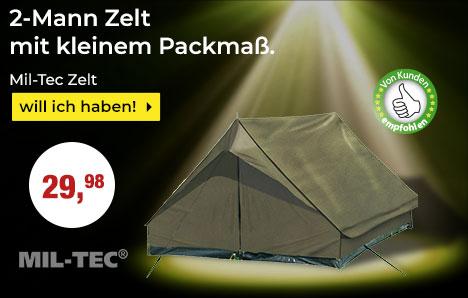 Von Kunden empfohlen - Mil-Tec 2-mann Zelt